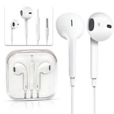 White Earphones Earbuds Headphone Mic for Apple EarPods iPhone 5 5s 6s 6 Plus