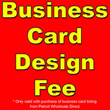 Business Card Design Fee - Only Valid with Business Card Listing Purchase