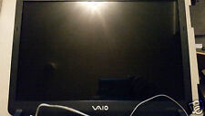 "SONY VAIO VGN-FS810/W COMPLETE SCREEN 15.4"",BEZEL,LID,HINGES,CABLES..TESTED"