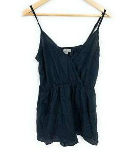 Asos Black Lined Spaghetti Strap Playsuit for Women Size US 8 AUS 14 BNWT