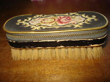 ANTIQUE GERMANY EMBROIDERED NEEDLE CASE/BRUSH