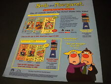 BOB AND MARGARET cartoon for you - not kids 1999 PROMO DISPLAY AD mint cond