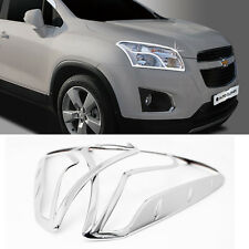 Chrome Head Lamp Cover Garnish Molding Trim C484 For CHEVROLET 2013-2016 TRAX