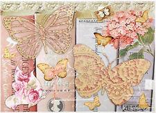 Papel De Arroz Para Decoupage Decopatch Scrapbook Craft Hoja Shabby Chic Mariposa