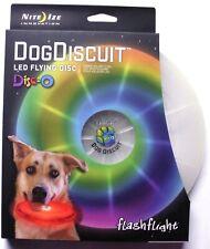 Nite Ize Flashlight Dog Biscuit LED Light Up Flying Disc-O-Led FFDD-07-R8 NEW