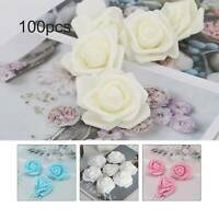 100Foam Roses Artificial Fake Flowers Heads Wedding Bouquet Party Home Decor 6CM
