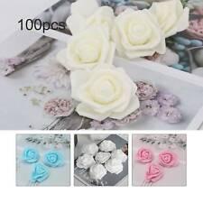 100Foam Roses Artificial Fake Flowers Heads Wedding Bouquet Party Home Decor 6CM