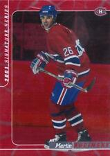 MINT! 2001 IN THE GAME SIGNATURE SERIES NO 075 OF 200 MARTIN RUCINSKY CANADIENS