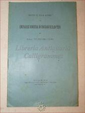 MEDICINA: Telesforo Fiori, EMIPARESI SINISTRA un caso di ILEO-TIFO 1899 Afasia