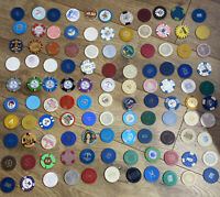 Casino Chip Collection - Lot Of 110 - Paulson HHR Illegal Casinos And More!