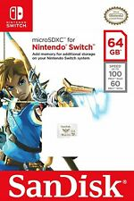 SanDisk 64 GB Nintendo Switch micro SD XC Card Flash Storage Memory USA Genuine