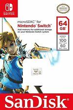 SanDisk 64 GB Nintendo Switch micro SD XC Card Flash Storage Memory USA Genuine