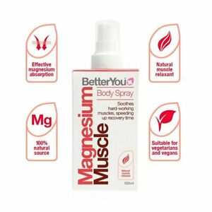 BetterYou Magnesium Muscle Body Spray Speed Up Recovery Time - 100ml
