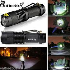 3000LM Mini CREE Q5 LED Torch Adjustable Focus Zoom Light Lamp Laser Flashlight