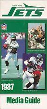 1987 NEW YORK JETS NFL FOOTBALL MEDIA GUIDE