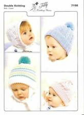 Knitting Pattern Hats and Bonnets for Birth - 2 year olds.