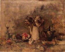 JEAN JANSEM LISTED Artist STILL LIFE 1950's PRINT on CANVAS PLATE SIGNED