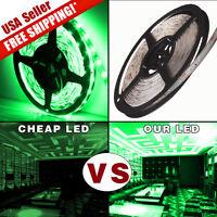 Waterproof Super Bright 5M 300 LED 3528 SMD Green Flexible Strip Light DC 12V US