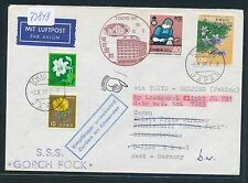 73848) JAL FF Tokyo Giappone-Cina Pechino 3.10.85, private cover to Germany!!!