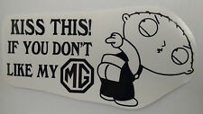 MG decal MGB GT T series convertible hardtop STICKER window bumper