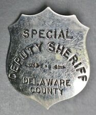 Vintage Obsolete Delaware County Special Deputy Sheriff Badge Pin Button