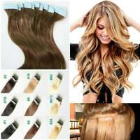 CLEARANCE 100% Remy Tape In Human Hair Extensions Skin Weft Ombre Blonde 120G Ss