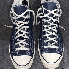 Converse Chuck Taylor All Star Hi Leather US Mens 14 Navy Blue