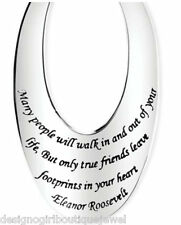 Friends Leave Footprints in Your Heart Stainless Steel Necklace True Friend