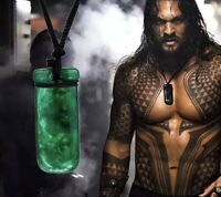 GREEN STONE AQUA MAN HAND CARVED PENDANT CHAIN NECKLACE AUSSIE TOP SELLER 🙌