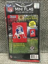 "NEW ENGLAND PATRIOTS THROWBACK CLASSIC MINI FLAG 15""x10.5"" GARDEN OR WINDOW FLAG"