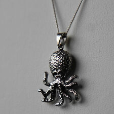 Sterling silver Octopus Pendant Necklace by Lepos Jewellery