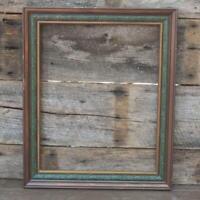 "Vintage 19-1/2"" x 23-1/2""  Wood Ornate Picture Frame"