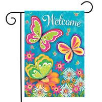 "Butterfly Garden Spring Garden Flag Welcome Floral 12.5"" x 18"" Briarwood Lane"
