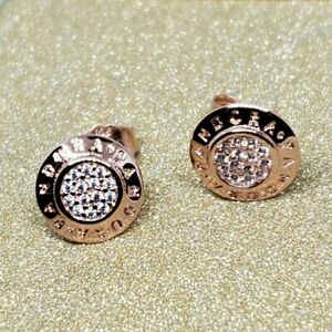 Authentic Pandora Rose Gold Collection Signature Plated Stud Earrings 280559 #2