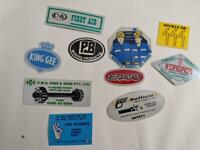 Retro Mining Sticker - 10 Stickers as pictured (Lot 38)
