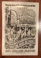 1979 Disneyland Haunted Mansion Poster Concept Art Disney Jim Michaelson 50th