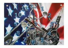 "US Biker Motiv Wanduhr 30 x 21cm "" Easy Rider """