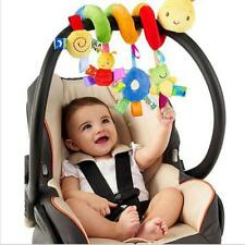Kid Baby Crib Cot Pram Ringing Bed Bell Spiral Rattles Mobile Crib Music Toy 6A
