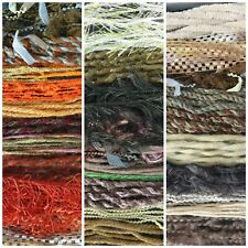 Assorted 10 x 3m coloured, textured yarns  Wool thread bundle. Job lot.
