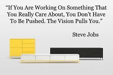 Vinyl Wall Decal Sticker Room Decor Saings Quotes Inspiring Steve Jobs New F2051