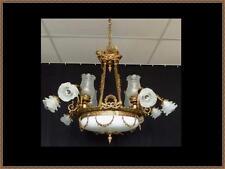 Breathtaking French Antique Vintage Louis XVI Solid Brass Bronze Chandelier WOW!