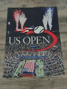 Wilson US open 2011 vertical cloth flag- vintage used