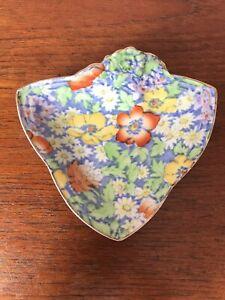 Vintage Royal Winton Grimwades Porcelain Anemone Pin/Butter/Trinket Dish