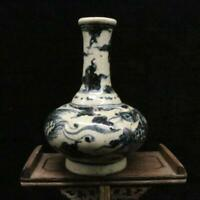 Chinese ancient antique hand make Blue-and-white phoenix pattern vase