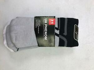 Under Armor Boys Youth Phenom Curry Crew Socks 3 Pair Grey