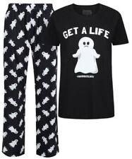 Pijamas y batas de mujer conjuntos de poliéster de color principal negro