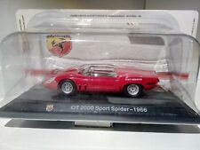 1:43 1/43 HACHETTE ABARTH COLLECTION OT 2000 SPORT SPIDER 1966 red - MB