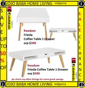 freedom Frieda Coffee Table 1 Drawer orp $399