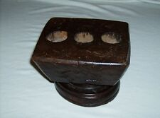 Beautiful antique 1800s era hand carved made in India farming seed spreader rare