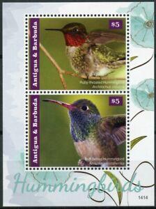 Antigua & Barbuda Birds on Stamps 2014 MNH Hummingbirds Hummingbird 2v S/S II
